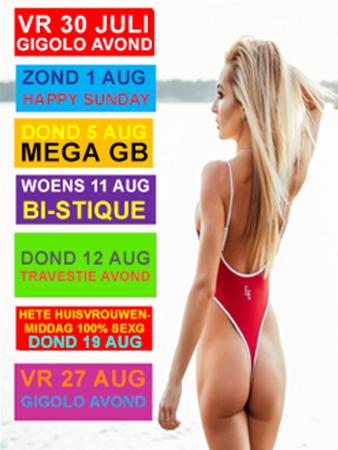Parenclub Mystique Rucphen 30 juli tm 27 aug