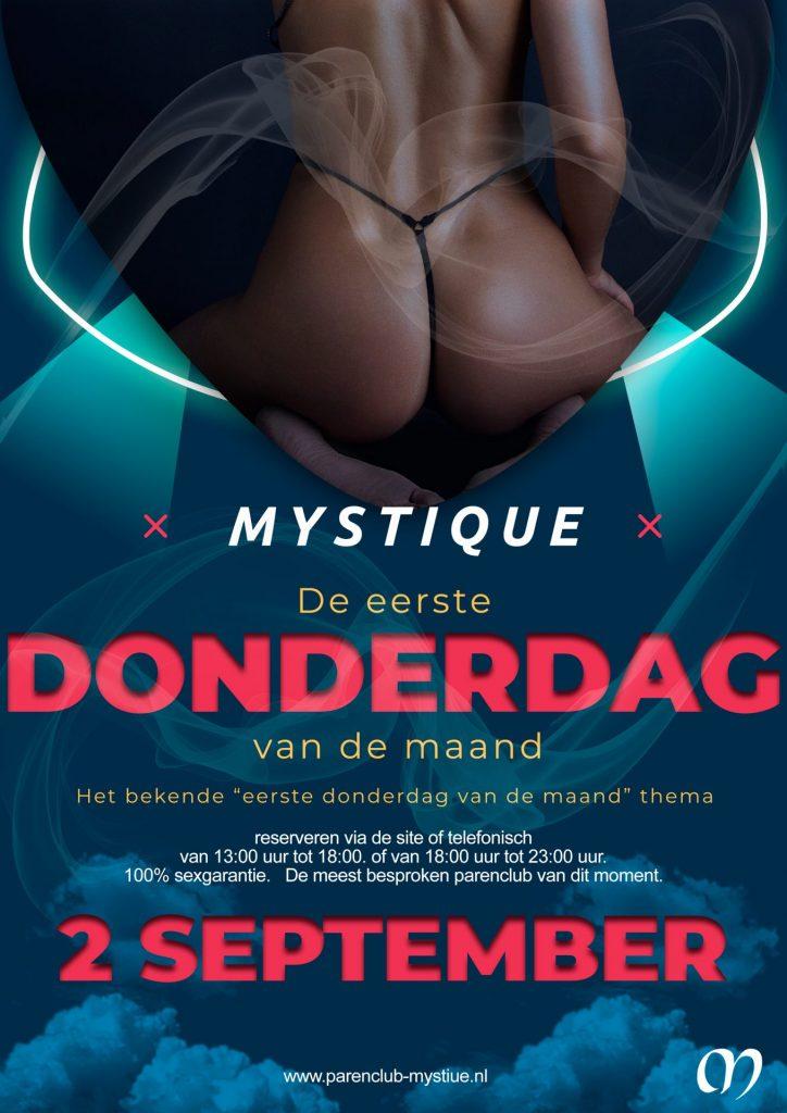Parenclub Mystique Rucphen 2e Donderdag vd maand Thema avond