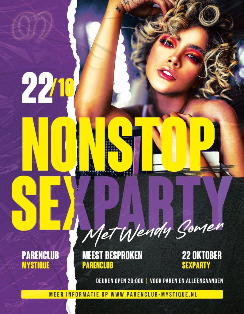 Parenclub Mystique te Rucphen Non-stop Sexparty 22 Oktober
