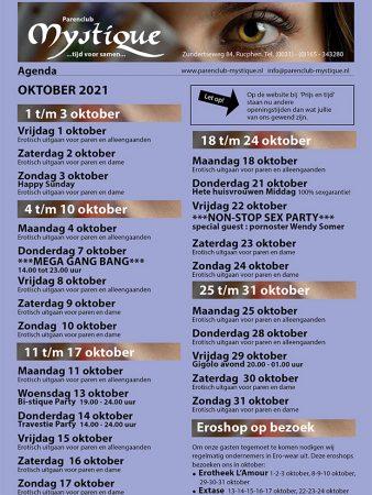 Parenclub Mystique Rucphen Complete Agenda Oktober
