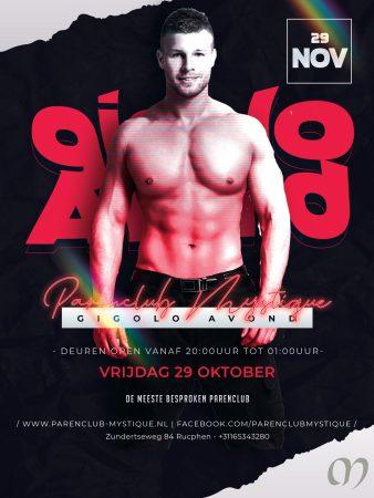Parenclub Mystique Gigolo Avond 29 oktober